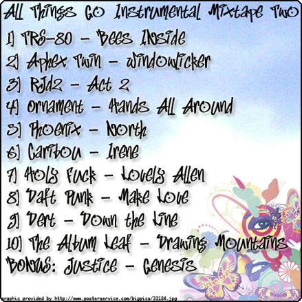All Things Go Instrumental Mixtape II   All Things Go